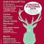 Concerts d'Automne 2018 - Carine Séchaye, M.-C. Bertheau